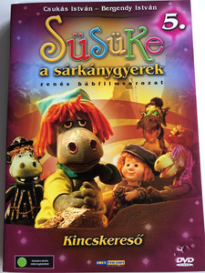 Süsüke a sárkánygyerek 5. DVD 2001 Kincskereső / Directed by Foky Ottó / Written by Csukás István / Voices: Bodrogi Gyula, Szalay Csongor, Makay Sándor, Vándor Éva, Háda János / Hungarian Musical Puppet movie for children (5998557198064)