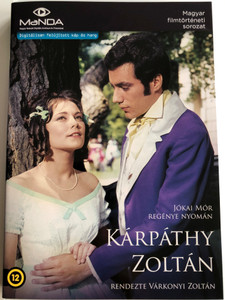 Kárpáthy Zoltán DVD 1966 / Based on Jókai Mór's novel / Directed by Várkonyi Zoltán / Starring: Kovács István, Venczel Vera, Latinovits Zoltán, Ruttkai Éva, Darvas Iván (5999884681373)