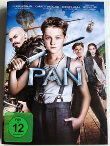 Pan DVD 2015 / Directed by Joe Wright / Starring: Hugh JAckman, Garret Hedlund, Rooney Mara, Amanda Seyfried (505189029284)