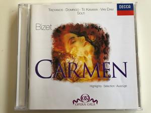 Troyanos, Domingo, Te Kanawa, Van Dam Solti / Bizet - Carmen / Highlights, Selection, Auszuge / Opera Gala / DECCA Audio CD Stereo / 458 204-2
