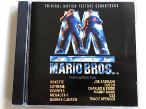 Original Motion Picture Soundtrack - Super Mario Bros. / Featuring Music From: Roxette, Extreme, Divinlyls, Megadeth, George Clinton, Joe Satriani, Queen, Charles & Eddie, Marky Mark, US3, Tracie Spencer / Capitol Records Audio CD 1993 / CDESTU 2201