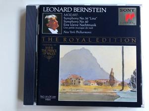 Leonard Bernstein / Mozart: Symphony No. 36 ''Linz'', Symphony No. 40 / Eine Kleine Nachtmusik / New York Philharmonic / The Royal Edition / Painting By H.R.H. The Prince Of Wales / Sony Classical Audio CD 1993 / SMK 47593