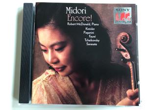 Midori - Encore! / Piano: Robert McDonald / Kreisler, Paganini, Faure, Tchaikovsky, Sarasate / Sony Classical Audio CD 1992 / SK 52568
