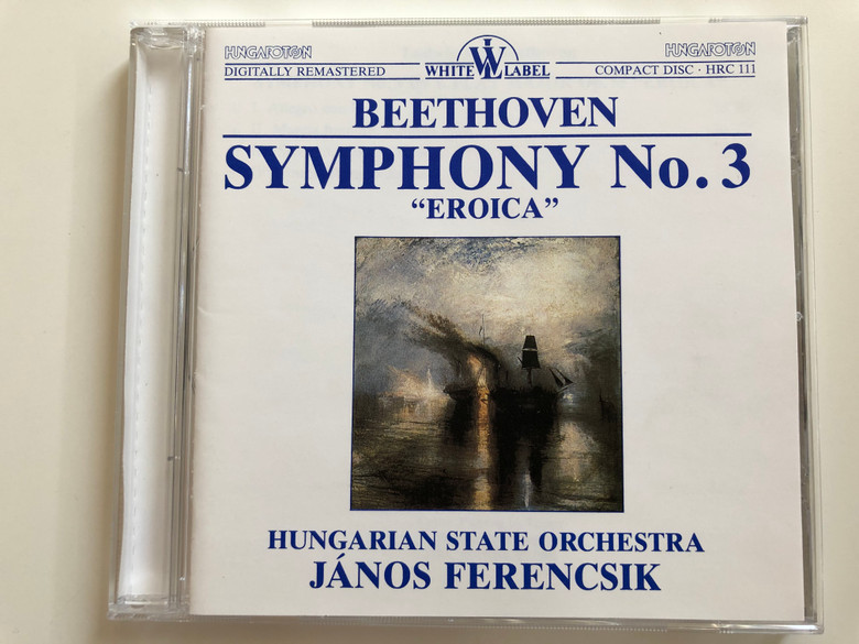 Beethoven - Symphony No. 3 ''Eroica'' / Hungarian State Orchestra / Janos Ferencsik / White Label Audio CD 1988 Stereo / HRC 111