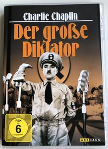 The Great Dictator DVD 1940 Der Große Diktator / Directed by Charles Chaplin / Starring: Charlie Chaplin, Paulette Goddard, Jack Oakie, Reginald Gardiner / B&W political satire film (4006680052496)