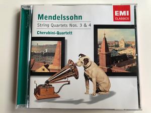 Mendelssohn – String Quartets Nos. 3 & 4 / Cherubini-Quartett / EMI Classics Audio CD 2004 Stereo / 7243 5 85803 2 7