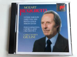 Mozart – Requiem, K.626 / Lynne Dawson, Jard Van Nes, Keith Lewis, Simon Estes / Philharmonia Chorus & Orchestra / Carlo Maria Giulini / Sony Classical Audio CD 1990 / SK 45 577