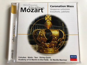 Wolfgang Amadeus Mozart - Coronation Mass, Vesperae solennes, Exsultate,jubilate / Cotrubas, Watts, Tear, Shirley-Quirk, Academy of St Martin-in-the-Fields, Sir Neville Marriner / DECCA Audio CD / 467 416-2
