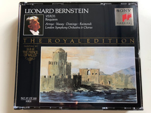Leonard Bernstein - Verdi: Requiem / Arroyo, Veasey, Domingo, Raimondi / London Symphony Orchestra & Chorus / The Royal Edition / Painting By H.R.H. The Prince of Wales, No.97 of 100 / Sony Classical 2x Audio CD 1970 / SM2K 47 639