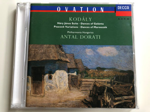 Kodály: Hary Janos - Suite, Dances Of Galanta, Peacock Variations, Dances of Marosszek / Philharmonia Hungarica, ‎Antal Dorati / Decca ‎Audio CD 1991 Stereo / 425 034-2