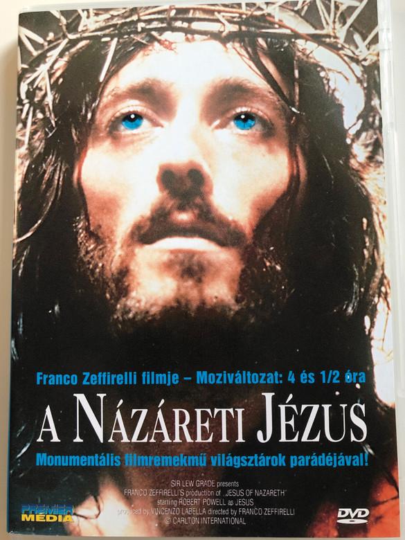 Jesus of Nazareth DVD 1977 A Názáreti Jézus / Directed by Franco Zeffirelli / Starring: Robert Powell, Anne Bancroft, Ernest Borgnine, Claudia Cardinale, Valentina Cortese (5998282102749)