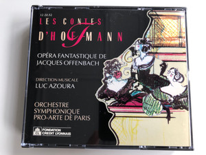 Les Contes D'HoffmannLes Contes D'Hoffmann / Opera Fantastique De Jacques Offenbach / Direction Musicale: Luc Azoura / Orchestre Symphonique Pro-Arte De Paris / Société Des Artistes Lyriques De France 2x Audio CD 1991 / 12 20.52
