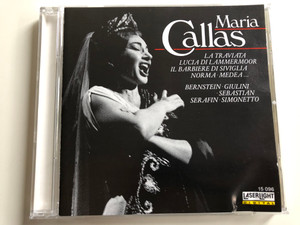 Maria Callas - La Traviata, Lucia Di Lammermoor, Il Barbiere Di Siviglia, Norma-Medea... / Bernstein, Giulini, Sebastian Serafin, Simonetto / Laser Light Audio CD 1989 Stereo / 15 096