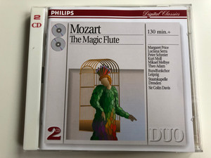 Mozart ‎– The Magic Flute / 130 min.+ / Margaret Price, Luciana Serra, Peter Schreier, Kurt Moll, Mikael Melbye, Theo Adam, Rundfunkchor Leipzig, Staatskapelle Dresden, Sir Colin Davis / Philips Digital Classics 2x Audio CD 1994 / 442-568 2