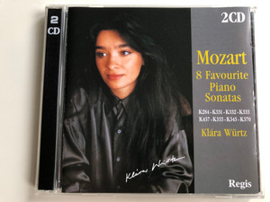 Mozart - 8 Favourite Piano Sonatas - K284, K331, K332, K333, K457, K533, K545, K570 / Klára Würtz / Regis Records Ltd. ‎2x Audio CD 1998 / RRC2037 (5028421020372)