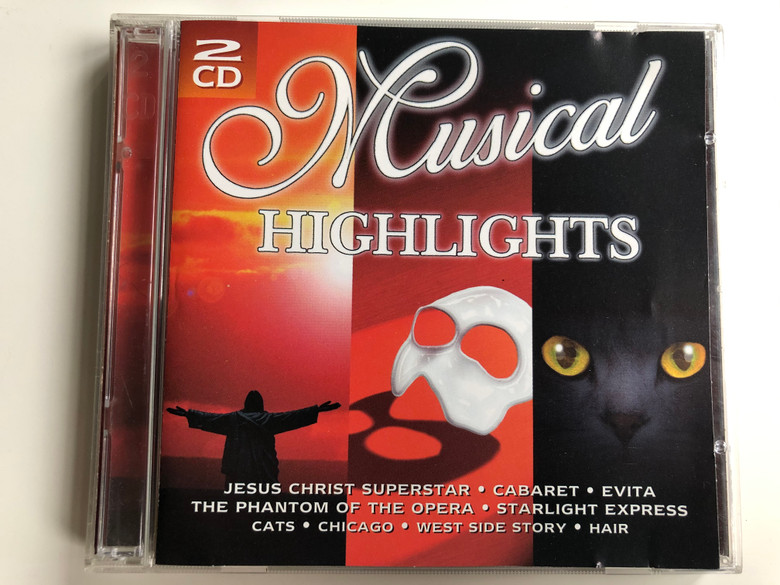 Musical Highlights / Jesus Christ Superstar, Cabaret, Evita, The Phantom Of The Opera, Starlight Express, Cats, Chicago, West Side Story, Hair / Super Doubles 2x Audio CD 1998 / SD 854062