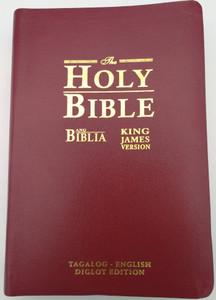 Tagalog - English KJV BURGUNDY Bilingual Bible with Golden Edges / Ang Banal Na Kasulatan Tagalog