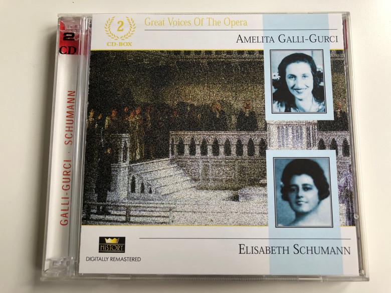 Great Voices Of The Opera / Amelita Galli-Gurci, Elisabeth Schumann / History 2x Audio CD / 20.3075-HI