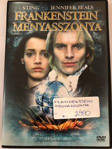 The Bride DVD 1985 Frankenstein Menyasszonya / Directed by Franc Roddam / Starring: Sting, Jennifer Beals, Geraldine Page, Clancy Brown, Anthony Higgins, David Rappaport (5999010459265)