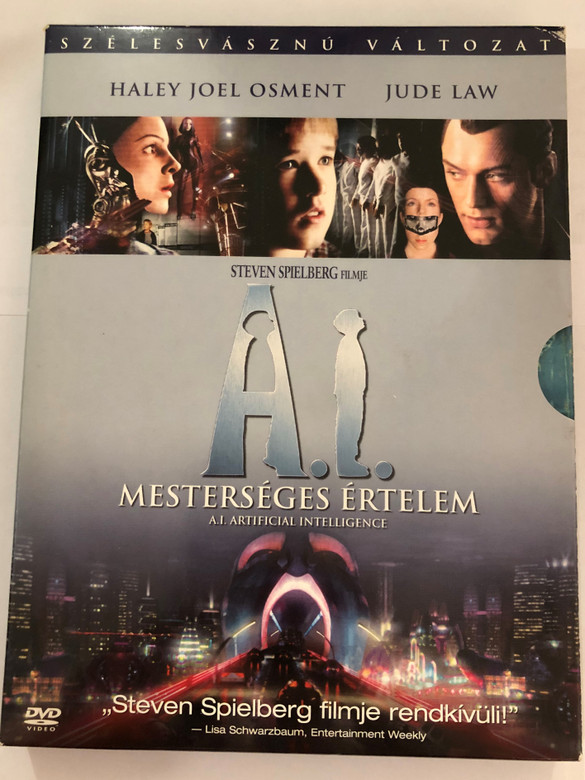 A.I. Artificial Intelligence DVD 2001 Mesterséges értelem / Directed by Steven Spielberg / Starring: Haley Joel Osment, Jude Law, Frances O'Connor, Brendan Gleeson, William Hurt (5999010442854)