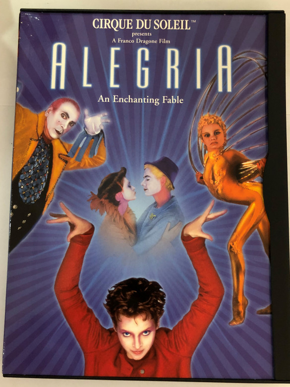 Cirque du Soleil presents - Alegria - An enchanting Fable DVD 1998 / Directed by y Franco Dragone / Starring: Frank Langella, Mako, Julie Cox, René Bazinet, Whoopi Goldberg (014381687422)