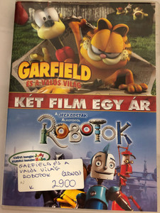 Garfield Gets Real 2007 - Robots 2005 DVD / Directed by Mark A. Z. Dippé, Kyung Ho Lee - Chris Wedge / Voices: Frank Welker, Rajia Baroudi, Gregg Berger, Jennifer Darling - Ewan McGregor Halle Berry Mel Brooks Amanda Bynes / 2 films on 1 DVD (5996255729658)