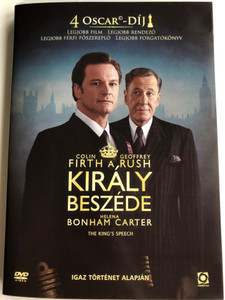 The King's Speech DVD 2001 A Király beszéde / Directed by Tom Hooper / Starring: Colin Firth, Geoffrey Rush, Helena Bonham Carter, Guy Pearce (5999544259379)