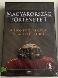 Magyarország Története I - A Honfoglalástól a Jagelló-korig / History of Hungary / 5 disc DVD SET / Directed by Varga Zs. Csaba, M. Nagy Richárd / 15 episodes (5999886210014)