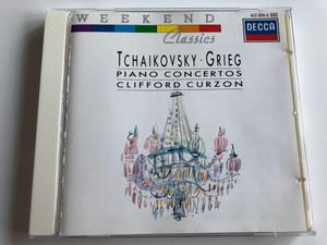 Tchaikovsky, Grieg – Piano Concertos / Clifford Curzon / Decca Audio CD 1988 Stereo / 417 676-2