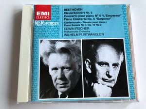 "Beethoven – Piano Concerto No. 5 ""Emperor"", Piano Sonata No. 7 , Op. 10 No 3 / Edwin Fischer, Philharmonia Orchestra, Wilhelm Furtwängler / EMI Classics Audio CD 2004 Mono / 724356279827"