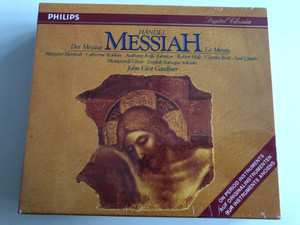 Händel - Messiah / On Period Instruments / Margaret Marshall, Catherine Robbin, Anthony Rolfe-Johnson, Robert Hale, Charles Brett / Monteverdi Choir, English Baroque Solists / Conducted by John Eliot Gardiner / Philips Classics 2 CD 1992 (028943429726)