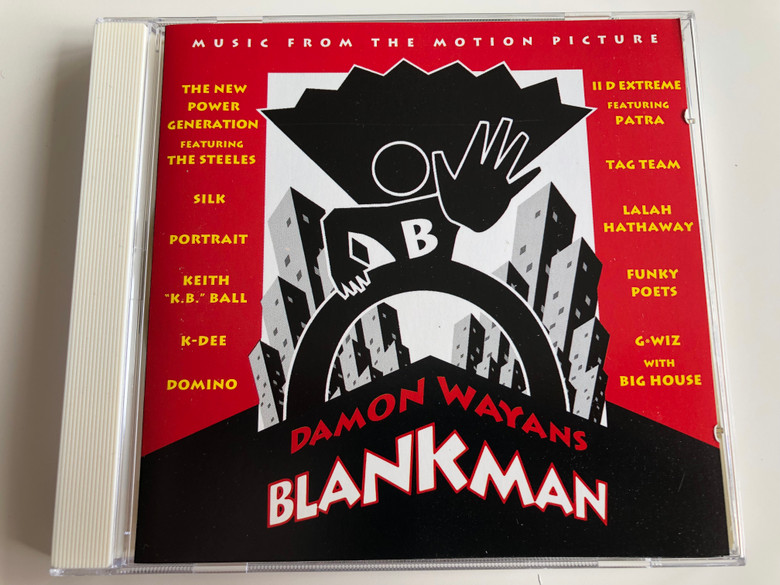 Damon Wayans - Blankman - Music From The Motion Picture / The New Power Generation Featuring The Steeles, II D Extreme Featuring Patra, Silk, Tag Team, Portrait, Lalah Hathaway, Keith K.B. Ball, Funky Poets / Epic Soundtrax Audio CD 1994 / 476821 2