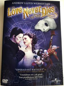 Love never Dies DVD 2011 / Musical by Andrew Lloyd Webber / Directed by Simon Phillips, Brett Sullivan / Roles: Ben Lewis, Anna O'Byrne, Maria Mercedes, Simon Gleeson (8698907209101)