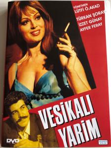 Vesikali Yarim DVD 1968 Directed by Ömer Lütfi Akad / Starring: Türkân Şoray, İzzet Günay, Ayfer Feray, Semih Sezerli, Behçet Nacar (8697441013595)