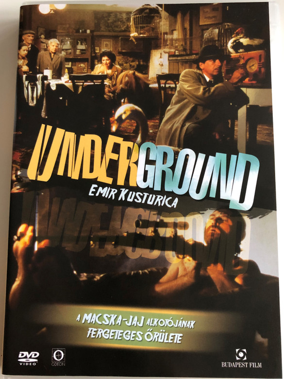 Underground DVD 1995 Подземље - Podzemlje / Directed Emir Kusturica / A Macska - Jaj Alkotójának Fergeteges Őrülete / Starring: Miki Manojlović, Lazar Ristovski, Mirjana Joković, Slavko Štimac (5999544250796)
