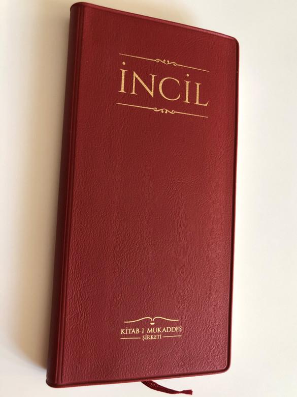 Incil / Turkish New testament [Pocket Size] / Vinyl Bound, Red / Turkish Bible Society 2018 / Kitabi Mukaddes Sirketi (9789754621099)