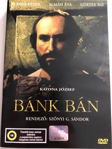 Bánk Bán (1987) DVD - Directed by Szőnyi G. Sándor / Written by József Katona / Starring: Blaskó Péter, Almási Éva, Szirtes Ági, Bubik István, Kállai Ferenc, Koncz Gábor, Lukács Sándor, Szilágyi Tibor (5996357340515)