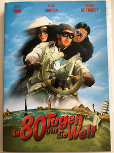 Around the World in 80 Days DVD 2004 In 80 Tagen um die Welt / Directed by Frank Coraci / Starring: Jackie Chan, Steve Coogan, Cécile de France, Jim Broadbent, Ewen Bremner, Kathy Bates, Arnold Schwarzenegger / Based on Jules Verne's novel of the same name (828766845198)