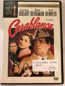 Casablanca DVD 1943 / Directed by Michael Curtiz (Kertész Mihály) / Starring: Humphrey Bogart, Ingrid Bergman, Paul Henreid / Black&White Classic (5999010450774)