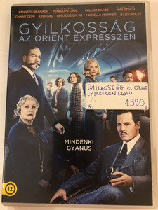 Murder on the Orient Express DVD 2017 Gyilkosság az Orient Expresszen / Directed by Kenneth Branagh / Starring: Kenneth Branagh, Penélope Cruz, Willem Dafoe, Judi Dench, Johnny Depp (8590548614736)