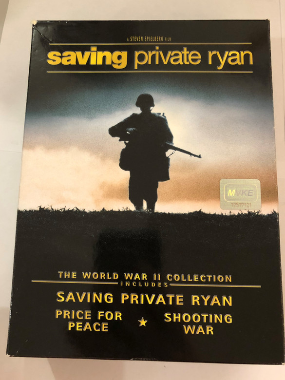 Saving Private Ryan DVD SET 1998 Special Edition / Directed by Steven Spielberg / Starring: Tom Hanks, Edward Burns, Matt Damon, Tom Sizemore / The World War II Collection Includes: Price for Peace, Shooting war / 3 discs (5055025363987)