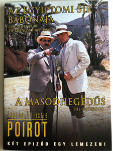 Agatha Christie's Poirot DVD 1993 / Directed by Peter Barber-Fleming / Starring: David Suchet, Hugh Fraser, Philip Jackson / The Adventure of the Egyptian Tomb, The Underdog / Az egyiptomi sír babonája, A másodhegedűs / 2 episodes on disc (5999546330892)