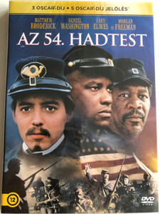 Glory DVD 1989 Az 54. hadtest / Directed by Edward Zwick / Starring: Matthew Broderick, Denzel Washington, Cary Elwes, Morgan Freeman (5948221413337)