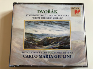 "Dvořák – Symphony No.7 · Symphony No.9 ""From The New World"" / Royal Concertgebouw Orchestra, Carlo Maria Giulini ‎/ Sony Classical ‎2x Audio CD 1994 / SX2K 58946"