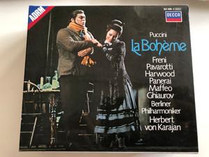 Puccini – La Bohème / Freni, Pavarotti, Harwood, Panerai, Maffeo, Ghiaurov / Berliner Philharmoniker , Herbert Karajan / Decca 2x Audio CD Stereo / 421 049-2
