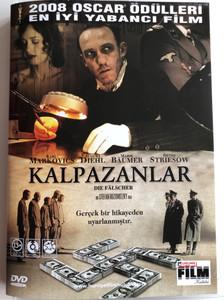 Die Fälscher DVD Kalpazanlar (The Counterfeiters) / Directed by Stefan Ruzowitzky / Starring: Karl Markovics, August Diehl, Devid Striesow (8698907201228)