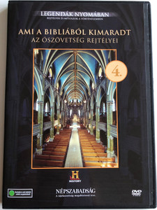 Ami a Bibliából kimaradt 4. Az Ószövetség rejtélyei DVD / Legendák Nyomában / History Channel Documentary about Old-Testament books / Banned from the Bible (5999883880036)