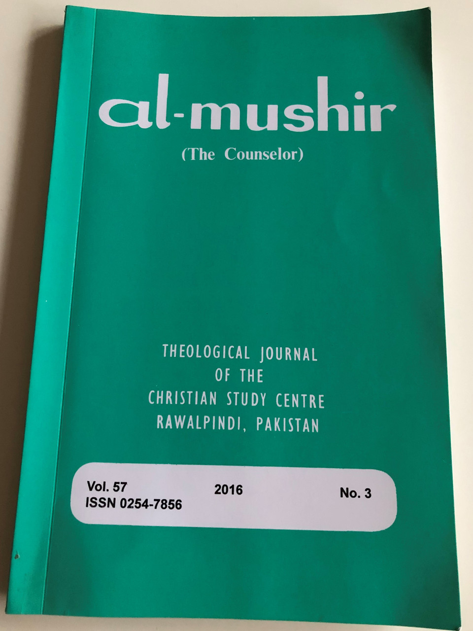 Al Mushir The Counselor Theological Journal Of The Christian