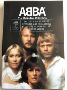 ABBA - The Definitive Collection DVD 2002 / Includes all 30 videos restored and remastered / Bonus Videos / Polar Music / 017 445-9 (044001744594)