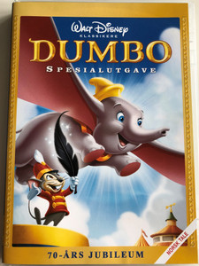 Dumbo Special Edition DVD 1941 Spesialutgave / 70-Ars Jubileum / Norwegian Edition / Directed by Ben Sharpsteen / Starring: Edward Brophy, Herman Bing, Margaret Wright, Sterling Holloway (8717418233235)